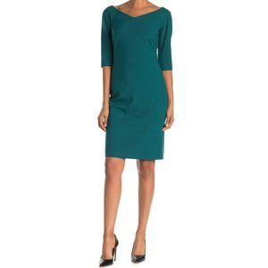 Lafayette 148 NEW Alexia Wool V-Neck Sheath Dress